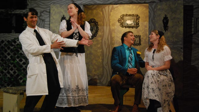 """Last year's production of """"Fools"""" at the Oak Grove Theater."""