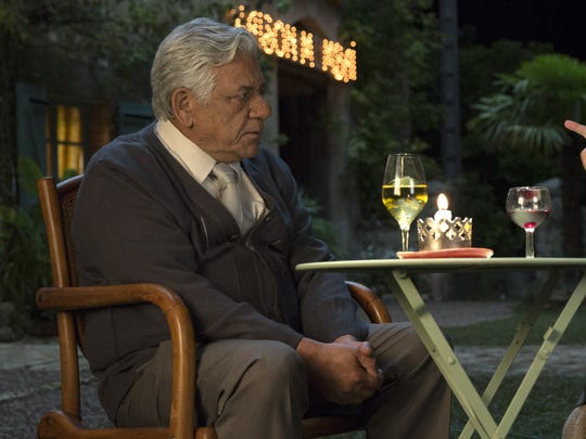 "Om Puri and Helen Mirren in ""The Hundred-Foot Journey."""