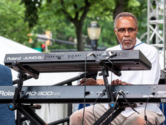 Wilmington's Jawanza Kobie leads his band at the 2014 Clifford Brown Jazz Festival.