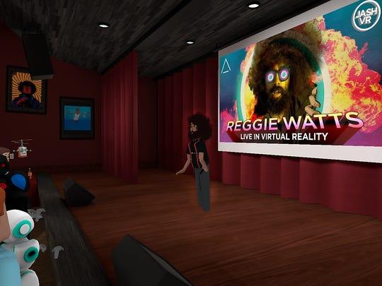 Reggie Watts performs in AltspaceVR.