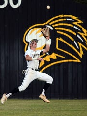 Oak Grove outfielder John Rhys Plumlee catches the