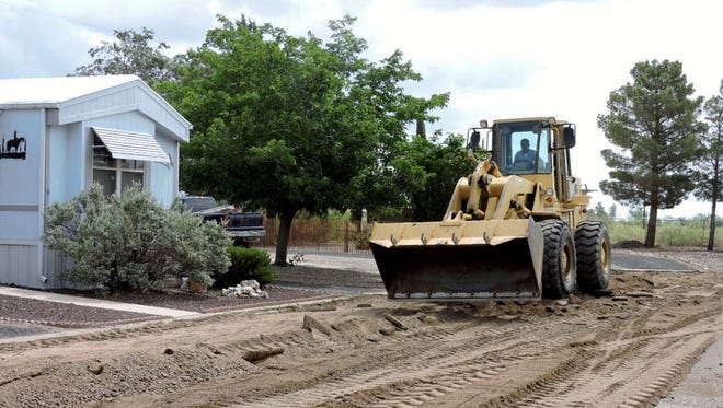 Country Club Gardens Mobile Home Park located at at 1201 S. Tennyson Driveis getting some long-awaited improvements.Motorists on Tennyson should be aware that residents will be parking along the roadside while streets and parking areas in the park are being repaved.