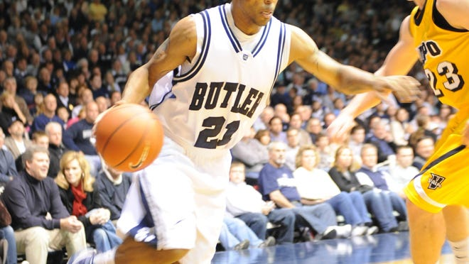 Freeport grad Will Veasley (21) is the all-time winningest player at Butler, which won four consecutive Horizon League titles, went to the NCAA tournament each year and finished 118-22 in his four seasons.