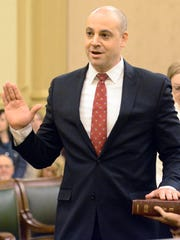 District Attorney David Sunday takes the oath of office