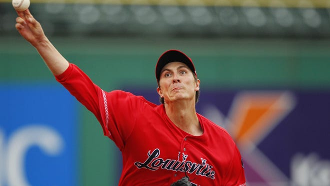 "Reds pitcher Homer Bailey had an encouraging first rehabilitation outing for the Louisville Bats Thursday night. Bailey pitched 32/3 innings, allowing two runs on three hits with two walks. He struck out six. ""I was (pleased), especially the first three (innings),"" he said."