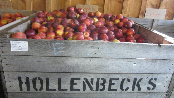 The apple press at Hollenbeck's Cider Mill has been operating continuously since 1933.