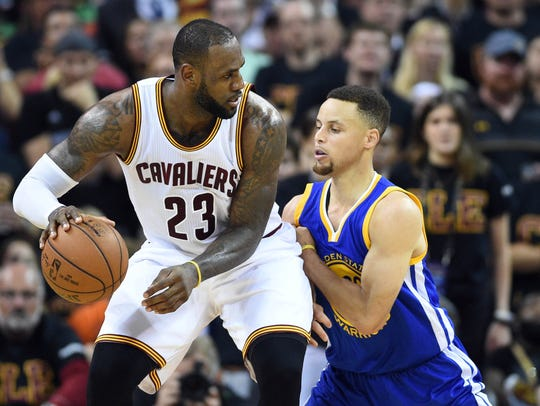 LeBron James, left, and Steph Curry are two of the