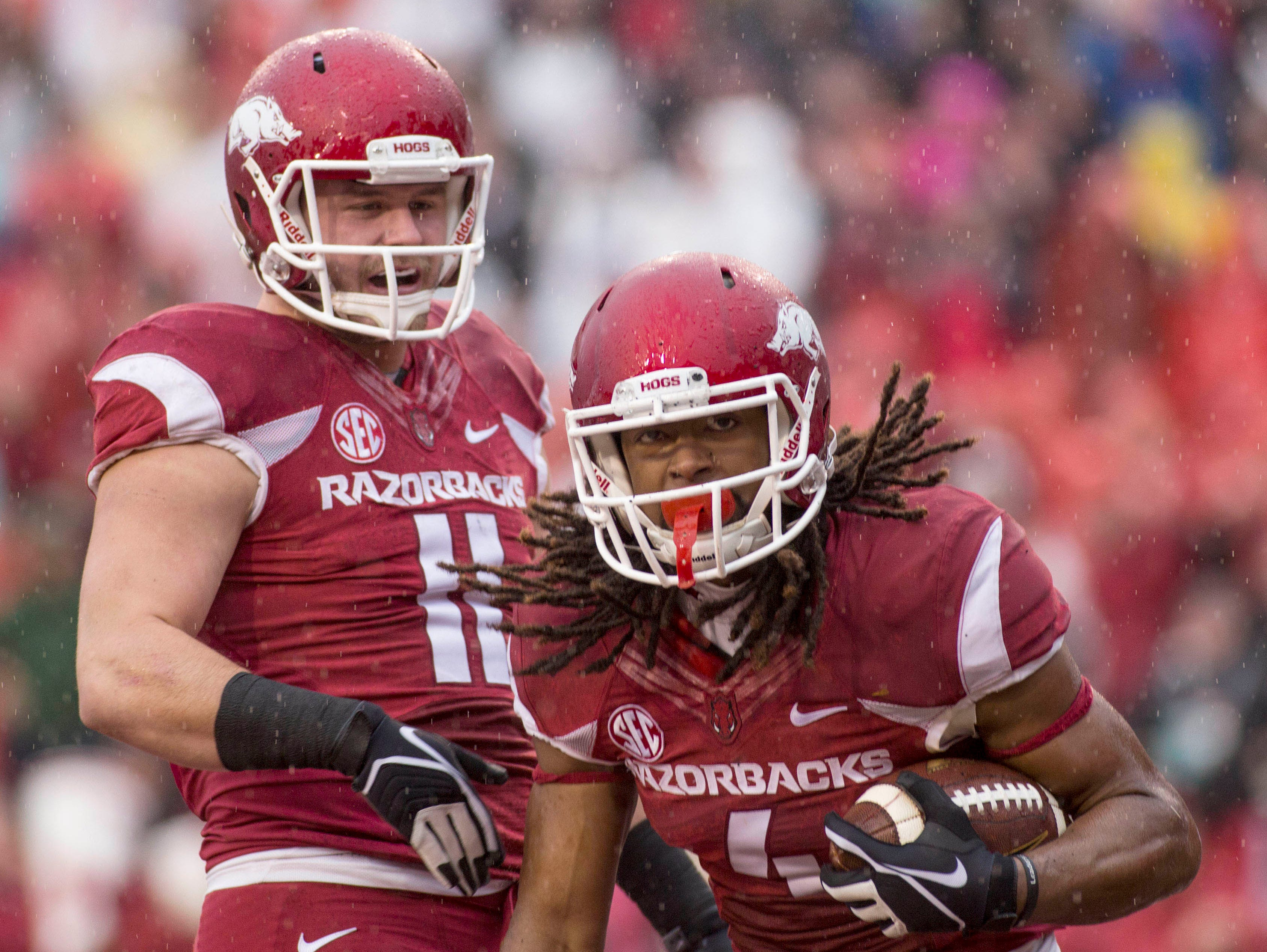 A.J. Derby Arkansas Razorbacks Football Jersey - Red