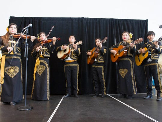 Mariachi Juvenil de Mi Tierra perform during La Gran Fiesta at the Scottsdale Center for the Performing Arts.