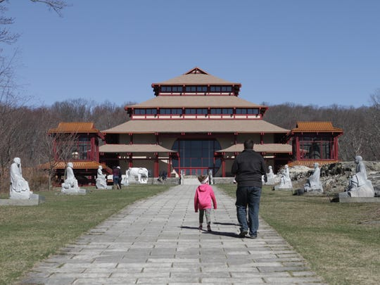 The Chuang Yen Monastery in Carmel, photographed April 9, 2017.