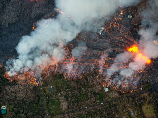 A new fissure eruption within Leilani Estates near