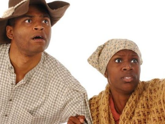 """A scene from the production of """"Harriet Tubman"""" to"""