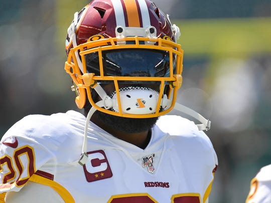 Sep 8, 2019; Philadelphia, PA, USA; Washington Redskins strong safety Landon Collins (20) on field against the Philadelphia Eagles at Lincoln Financial Field. Mandatory Credit: Eric Hartline-USA TODAY Sports