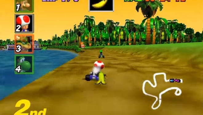 Mario Kart 64 ranks as the No. 17 game in the rankings.