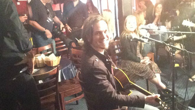 "Jonathan Jackson smiles as ""Nashville"" prepares to shoot in virtual reality at the Bluebird Cafe"