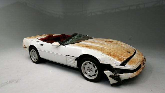 The 1,000,000th Chevrolet Corvette, a 1992 convertible model, is on display at Stage 3 Studio in Warren, Mich., Wednesday, Dec. 3, 2014.