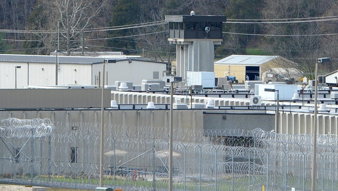 A guard tower is visible at Augusta Correctional Center near Craigsville on Tuesday, Nov. 4, 2014.