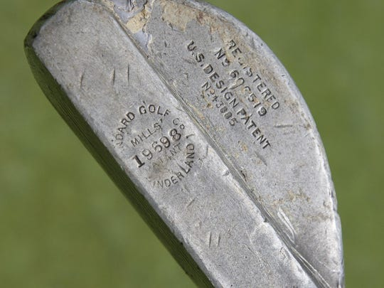A vintage style putter like the ones that players will get to try out at a tournament Saturday at Lakewood County Club, designed to highlight the course's rich history.