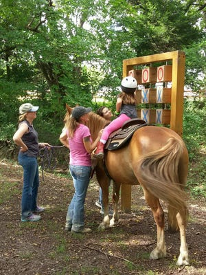 Paws for Reflection Ranch includes a sensory trail for children.