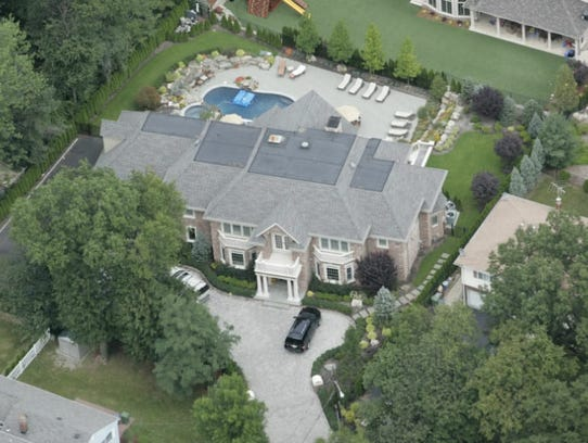 A view of the property in Paramus built by Michael