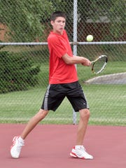 Rossville No. 1 singles player Nathan Price.