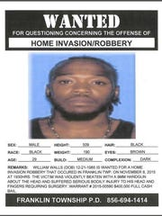 Franklin Township Police have issued an arrest warrant