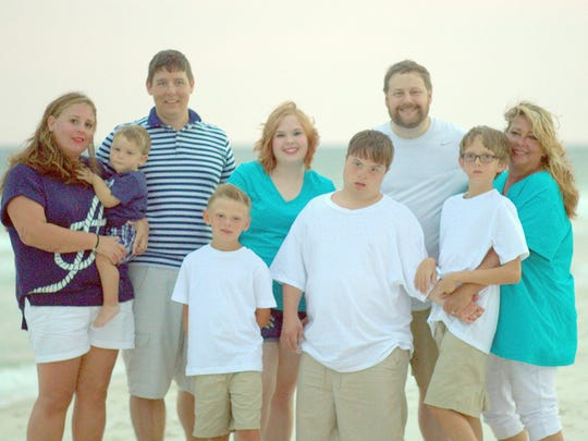Annette Shaver with her family on a recent beach vacation.