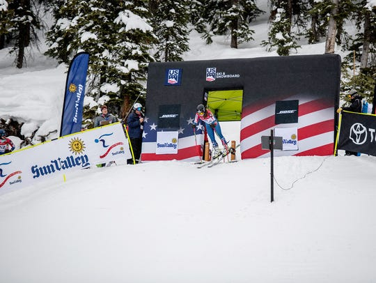 AJ Hurt won the women's Alpine combined race at the