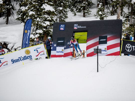 AJ Hurt won the women's Alpine combined race at the U.S. championships.