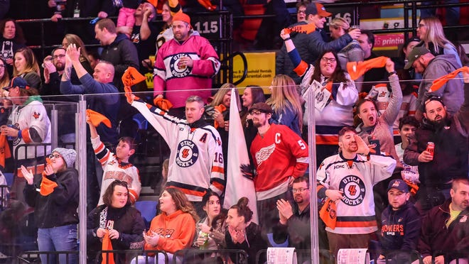 The Utica College men's hockey team averaged 3,394 fans during 17 home games during the 2019-20 season, according to US College Hockey Online.