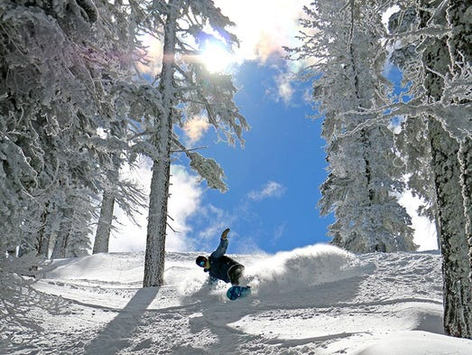 "North Lake Tahoe's Diamond Peak saw 10"" of fresh powder"