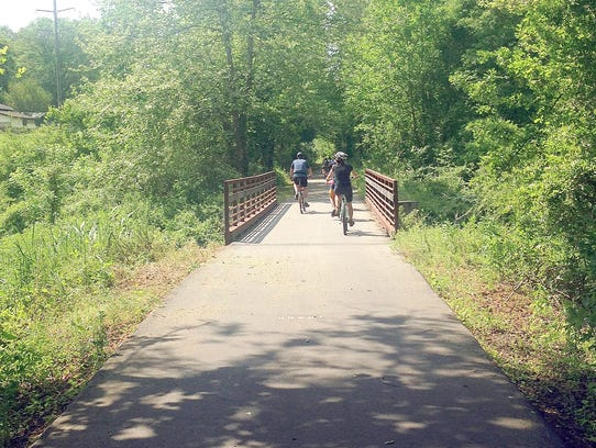 Riders of the Swamp Rabbit Trail in South Carolina