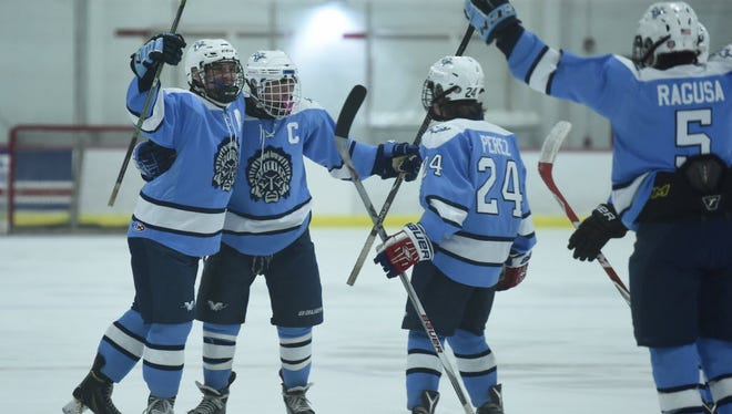 Wayne Valley defeated rival Wayne Hills, 5-2, at the Ice Vault.