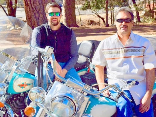 Blayne Maldonado, left, and his father, Humberto Maldonado, embark on a new adventure in Ruidoso staging the 2018 Golden Aspen Motorcycle Rally.