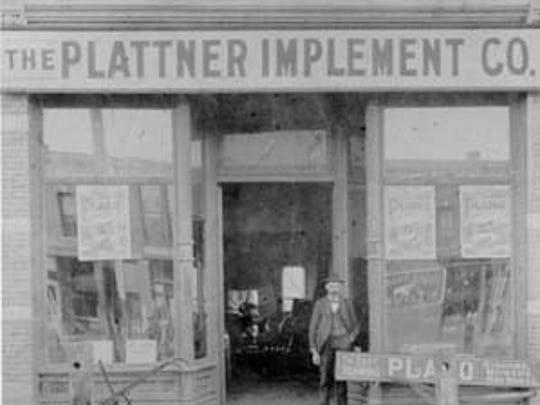The Denver branch of the Plattner Implement Co. at 257 Linden St. circa 1900.