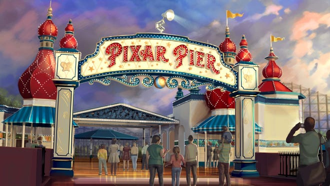 Pixar Pier will feature new attractions, restaurants and experiences, as well as some old favorites, with more on the way.