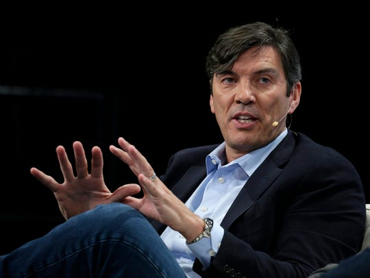 Tim Armstrong, CEO and Chairman of AOL Inc, speaks