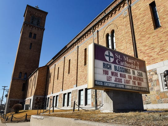 St. Mary's Cathedral is shown Friday, Feb. 16, in St.