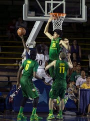 Former Sexton and Everett star Trevor Manuel, top, played nine games at Oregon in 2015, before transferring to Loyola Marymount, where he played one season.