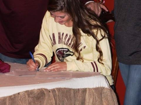 Holland Ponthieux will be the first Ouachita Parish player to join the sand volleyball program at ULM.