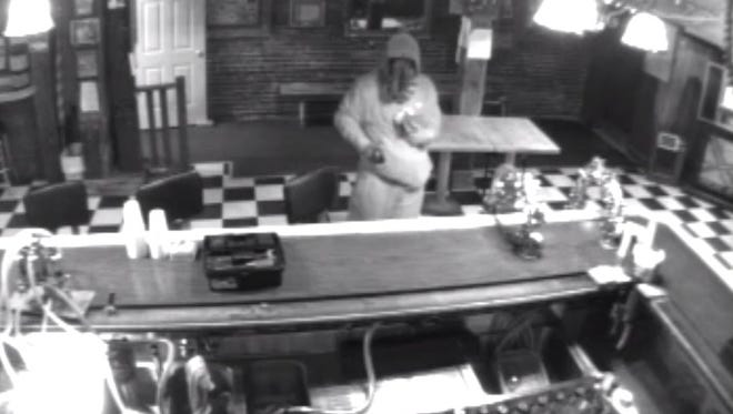 A still frame from the video released today by the Tioga County Sheriff's Office.