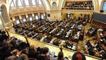 Spectators view House members during a legislative session.