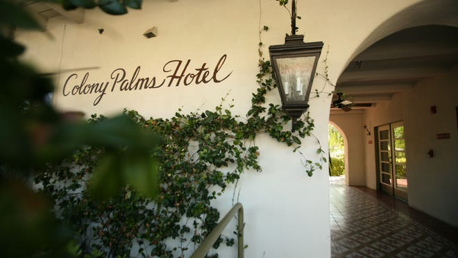 The Colony Palms Hotel photographed in 2009 in downtown Palm Springs.