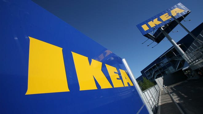This 2008 photo shows Ikea signage at New York City's first Ikea store in Brooklyn. Ikea on Thursday, June 26, announced its U.S. division is raising the minimum wage for thousands of its retail workers, pegging it to the cost of living in each location, instead of its competition.