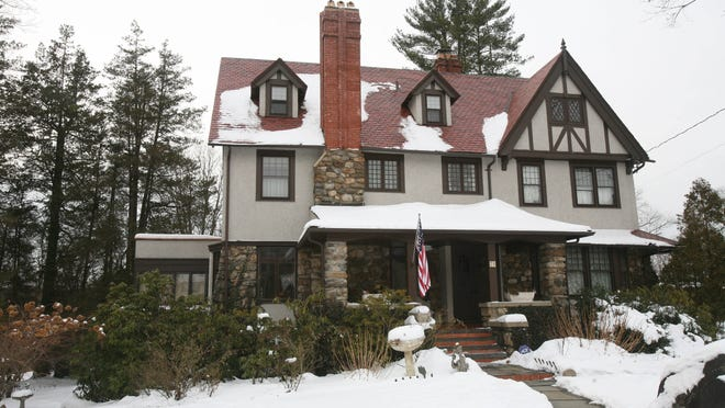 The four-level, 5,100-square-foot English Tudor house on Croton Avenue in Mount Kisco is on the market for $1.3 million.