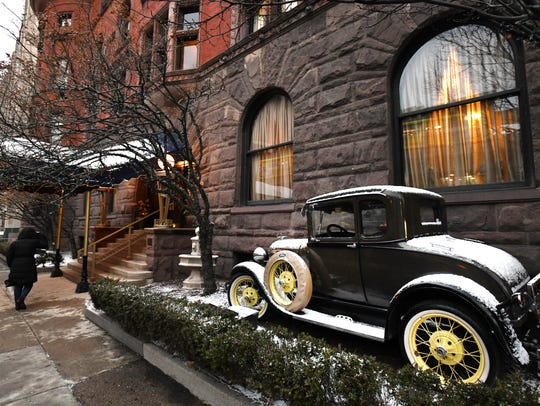 The renovated Detroit Club is shown on January 12,