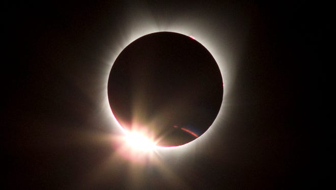 Las Cruces photographer Rich Richins traveled to Idaho to capture a photo of the total eclipse of the sun on Aug. 21, 2017.