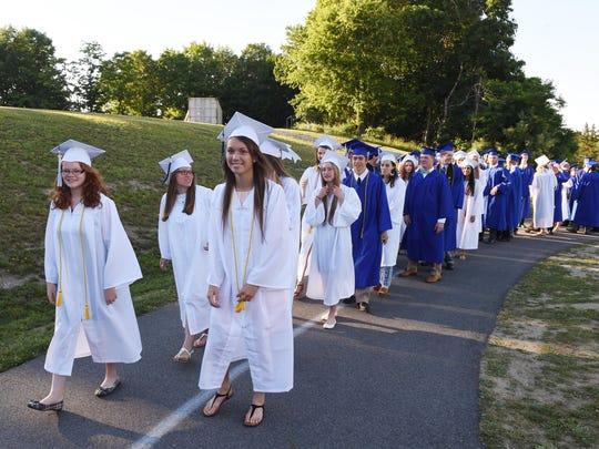 Millbrook High School seniors begin their procession