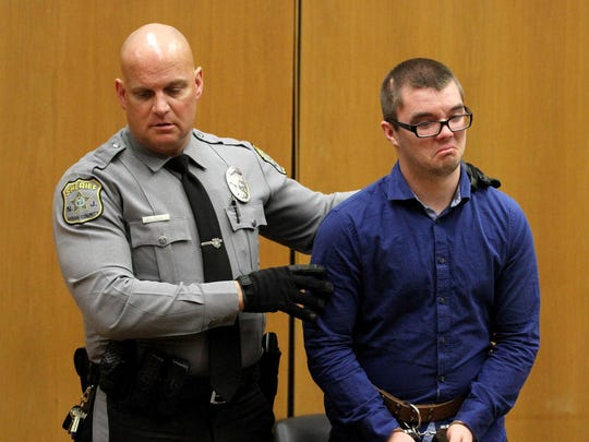 Accused pedophile Christopher Wilson is taken into