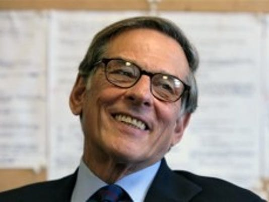 Author and biographer Robert Allan Caro smiles during a 2008 interview in New York. Caro's fourth Lyndon Johnson book, 'The Passage of Power,' won the National Books Critics Circle biography prize Feb. 28, 2013. (AP photo)
